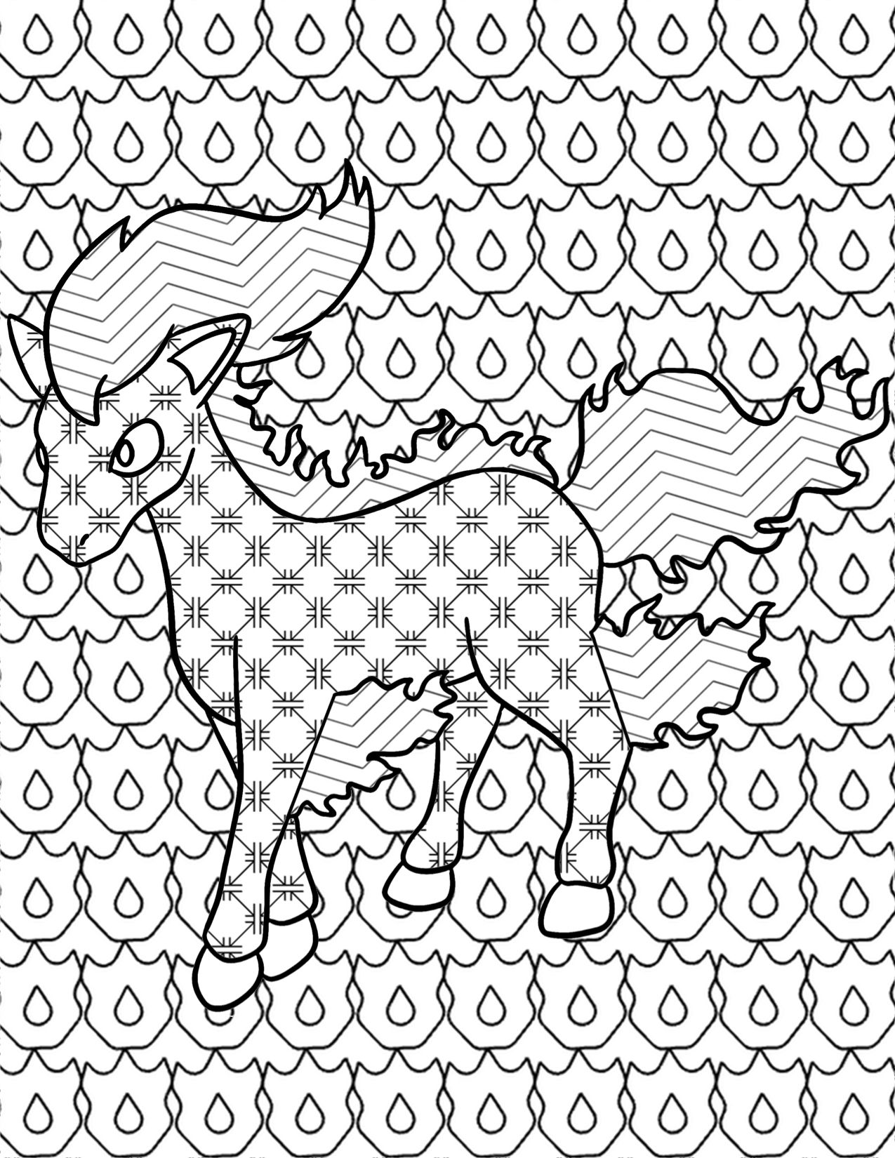 it u0027s everyone u0027s favorite flaming horse gotta color u0027em all