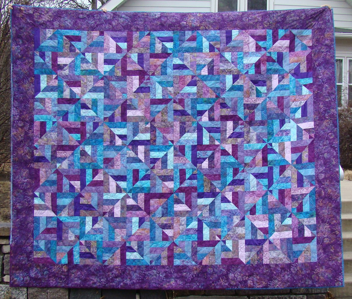 2knitwits: Jeni's purple quilt -- Love this! | Quilt & Sew ... : blue and purple quilt - Adamdwight.com