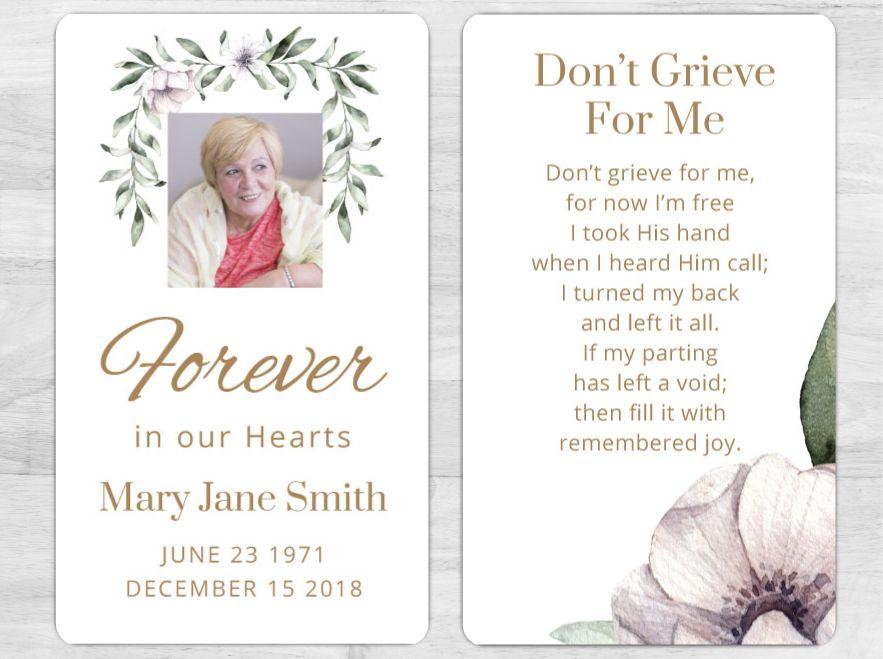 memorial card  1081  memorial cards memorial cards for