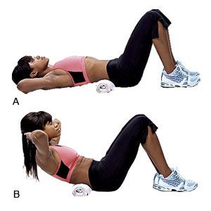 60 degree crunch2 flats health magazine and at the top for Floor exercises for abs