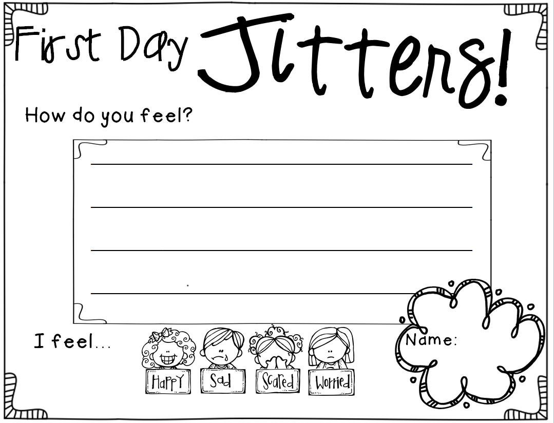 Worksheets First Day Jitters Worksheets completely updated and free for a limited time back to school activities