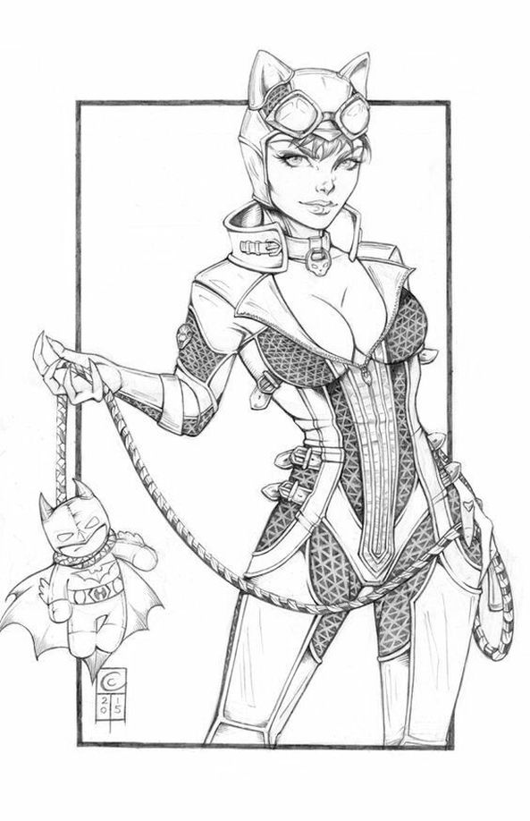 Catwoman | Coloring Pages in 2019 | Catwoman drawing ...