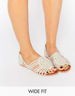 fccd805b6 ASOS JESPER Wide Fit Leather Summer Shoes