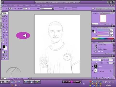 Transformar foto em desenho e colocá-la em uma folha de caderno