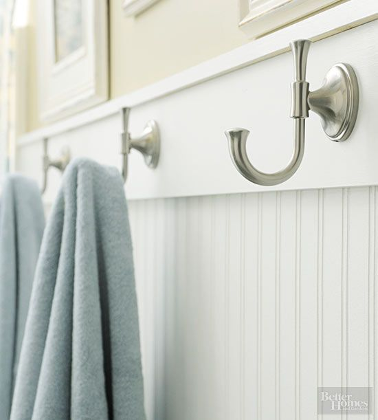 Towel Hook Ideas: Hooks For Towels Instead Of Long Bars. I Can Fix This