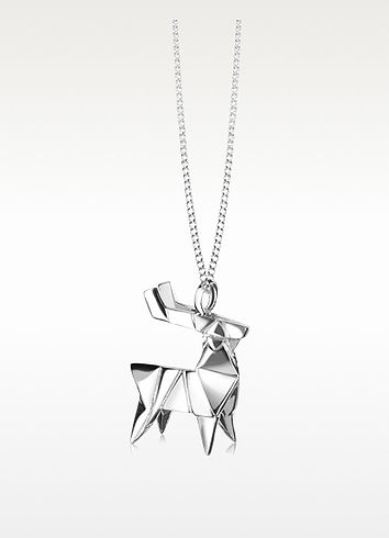 Origami sterling silver deer pendant necklace 19500 actual origami sterling silver deer pendant necklace 19500 actual transaction amount mozeypictures Image collections