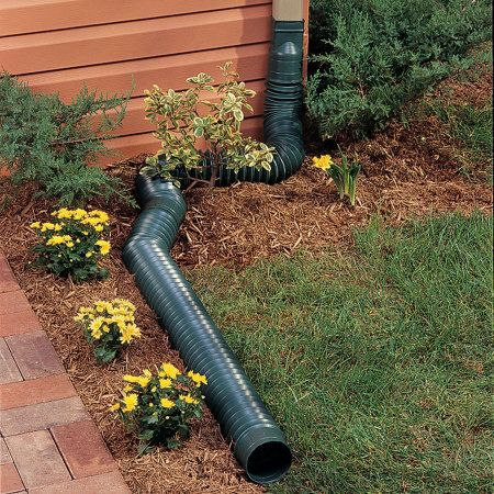 Flex A Spout Downspout Diverter Gutter Drainage Landscape Drainage Downspout