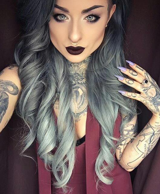 Tattoo Artist Ryan Ashley Malarkey Ryanashleymalarkey Grey Hair Wig Hair Beauty Hair Color