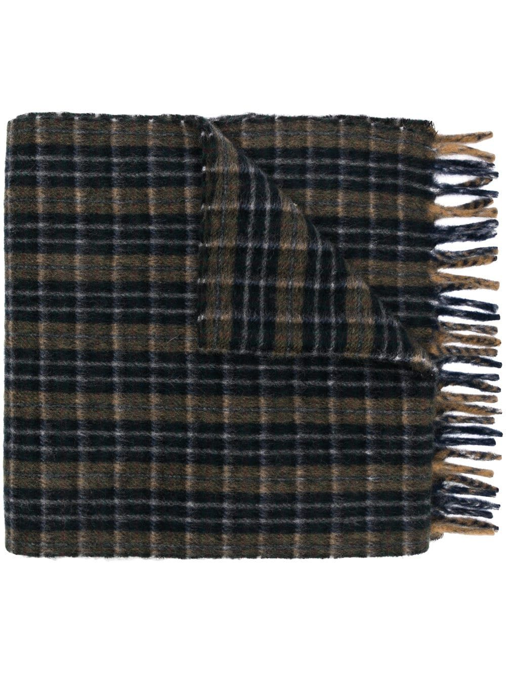 df9224d588eb9 Gucci embroidered checked scarf - Blue in 2019 | Products | Checked ...