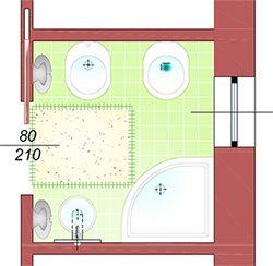 Risultati immagini per progetto bagno piccolo con - Progetto piccolo bagno ...