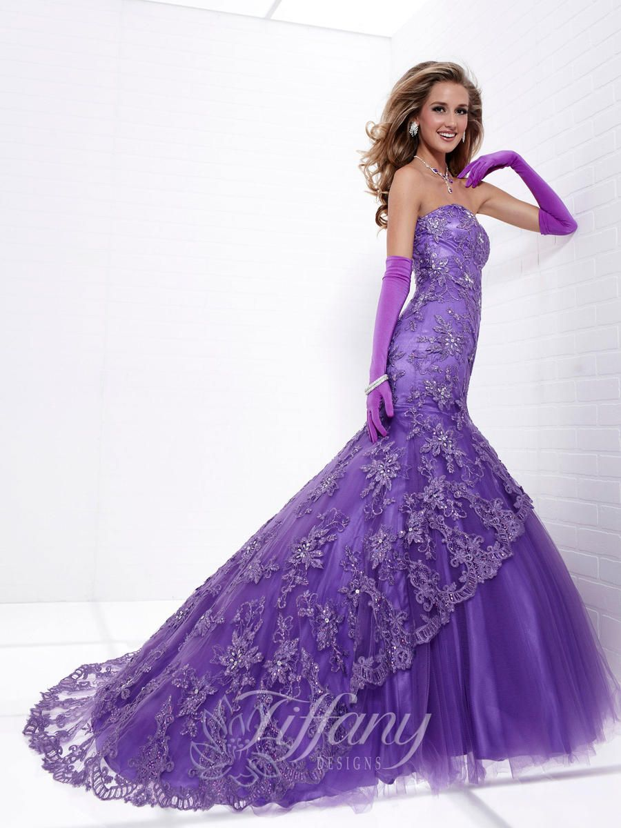 Tiffany Designs | Women Dresses | Pinterest | Purple prom dresses ...