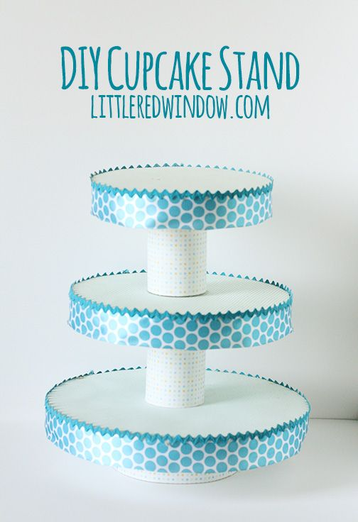 Diy cupcake stand cupcake stands craft and cake for How to make a cake stand