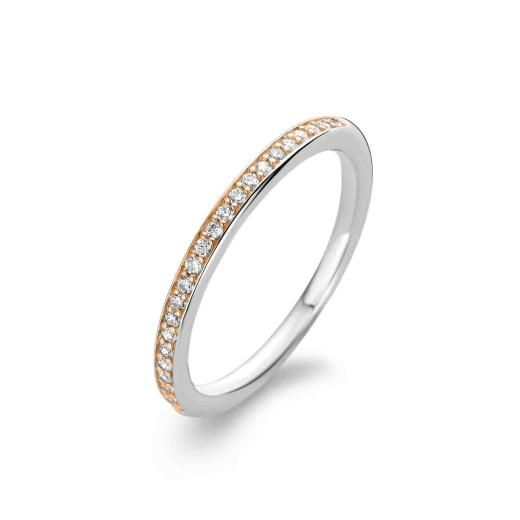 Ti Sento Ring 1923ZR Sterling Silver, Rose Gold & CZ - £50.00 - Ti Sento Ring 1923Zr Sterling Silver Rose Gold Cz