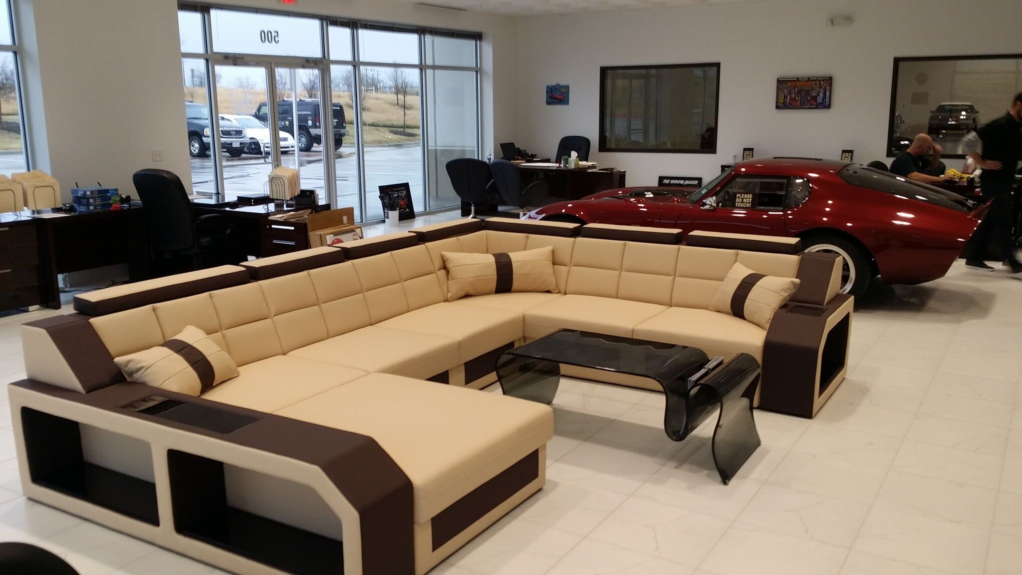 Sectional Fabric Sofa Houston Xl