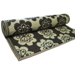 $44 Koko Company 2.5' x 8 Floormat Runner Flowers - Brown/ Off white