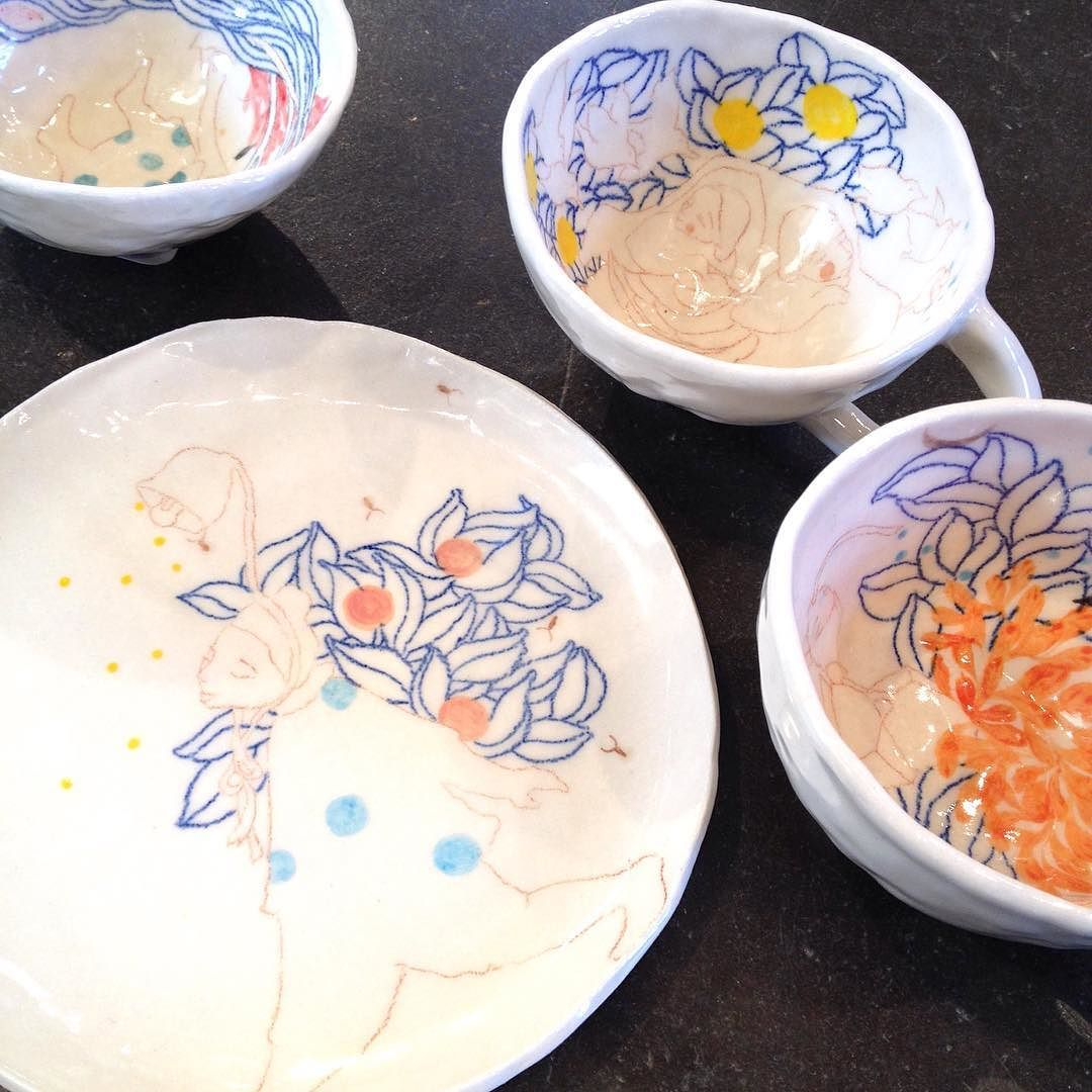 Pinch bowls plates and cups by @storyofaseed at #distillgallery by distillgallery
