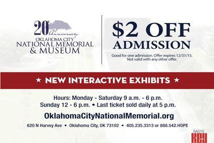 The Oklahoma City National Memorial Museum Is Offering 2 Off