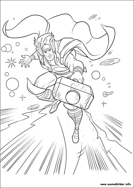 Ausmalbilder Thor zum Ausdrucken 01  ausmalbilder  Pinterest