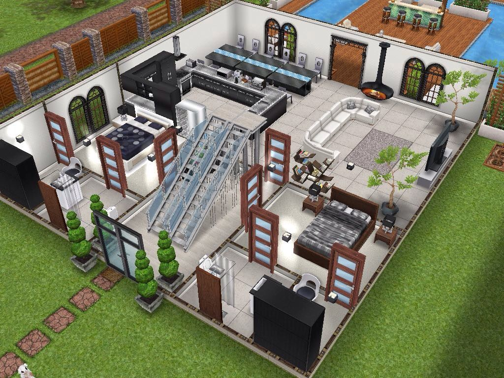 House 17 ground level #sims #simsfreeplay #simshousedesign | My ...