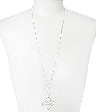 Nadri Mandala Cubic Zirconia and Crystal Long Pendant Necklace
