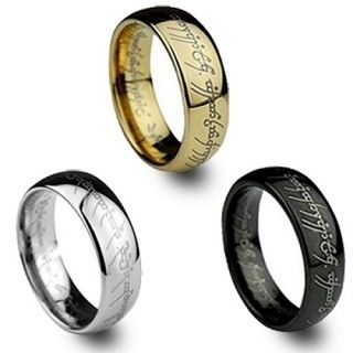 Luxury Gold Plated The Lord Of Rings Wedding Ring For Men