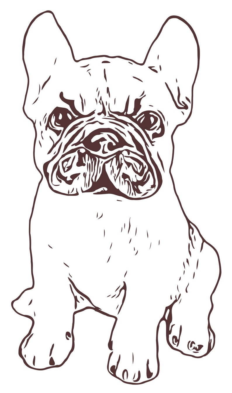 French Bulldog Puppy Png Svg Dxf Eps Vector Files For Etsy Bulldog Puppies Vector File Raster Image