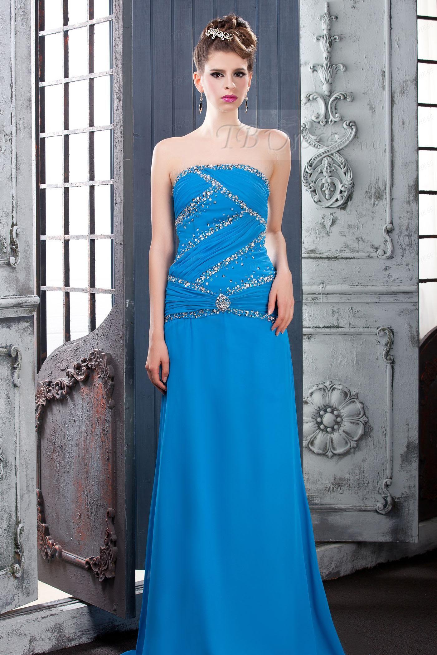 Luxurious Strapless Floorlength Lara's Evening Dress