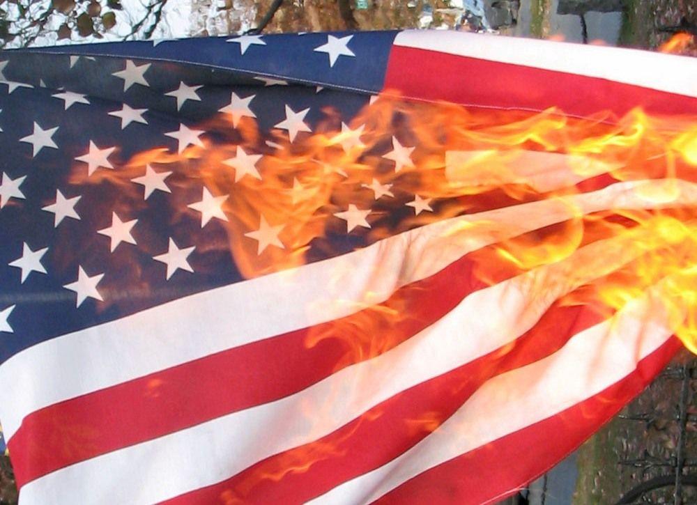 Pin On Flag Burning