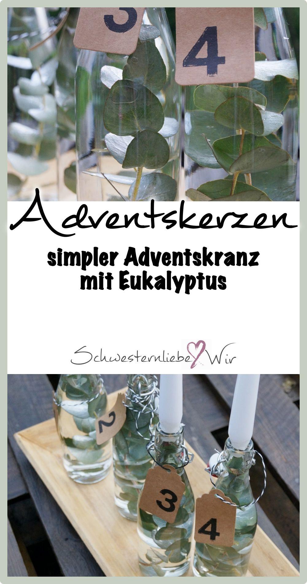 advent simpler adventskranz mit eukalyptus. Black Bedroom Furniture Sets. Home Design Ideas