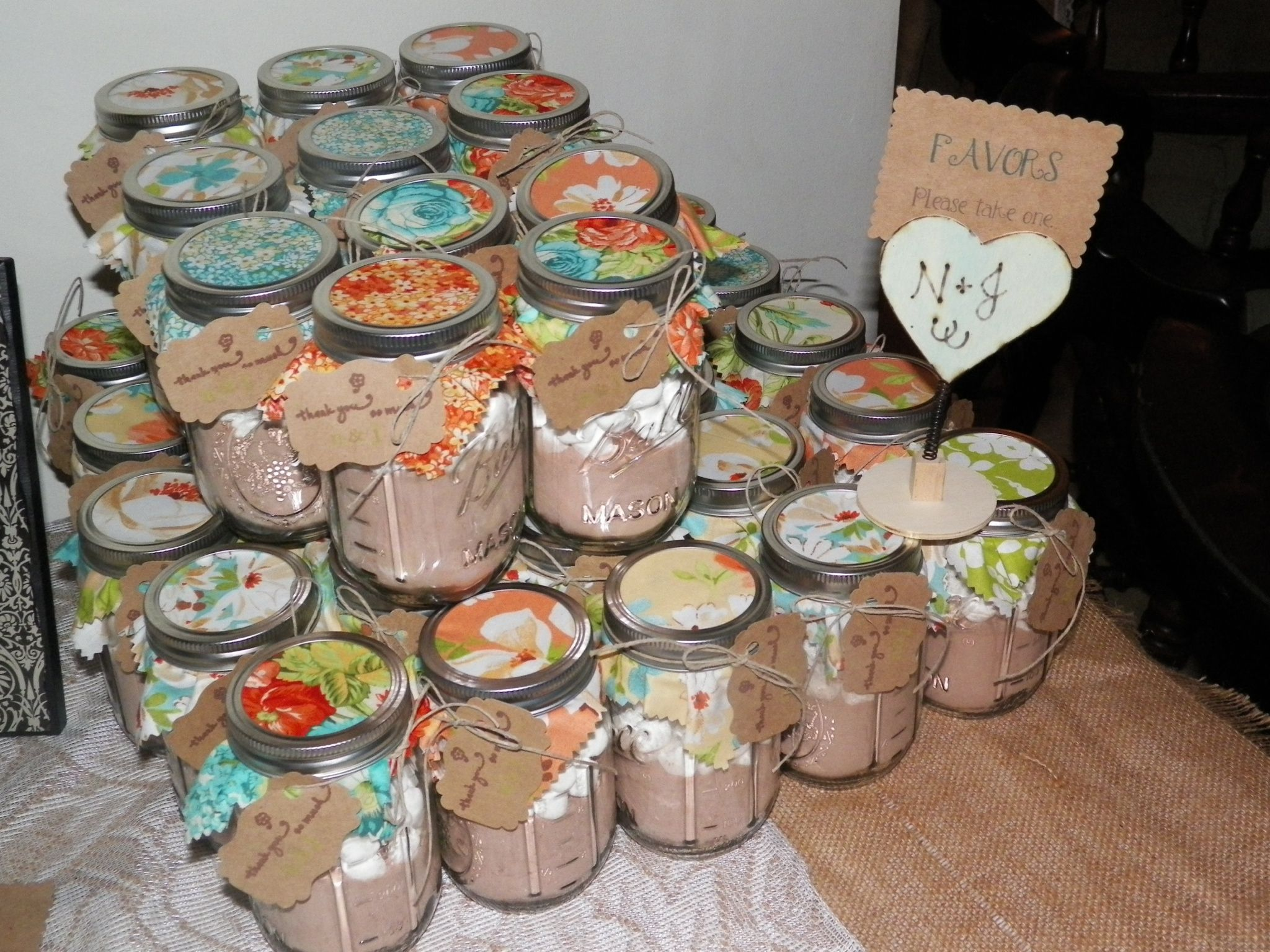 beach wedding shower favor ideas%0A bridal shower hot cocoa mason jar favors  we must do this ky
