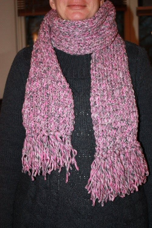 Simple Loom Knit Scarf With Fringes Knitting Pinterest Scarves