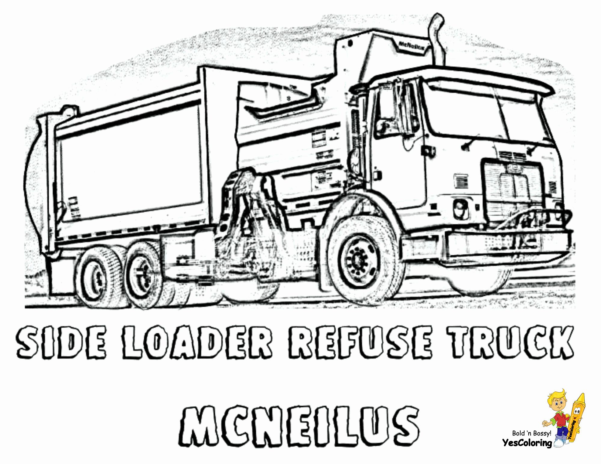 Trash Truck Coloring Page Best Of Grimy Garbage Truck Coloring Page Free In 2020 Truck Coloring Pages Monster Truck Coloring Pages Garbage Truck