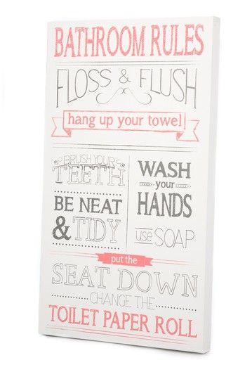 Bathroom Rules Wall Art bathroom rules wall art | wall art | pinterest | bathroom rules