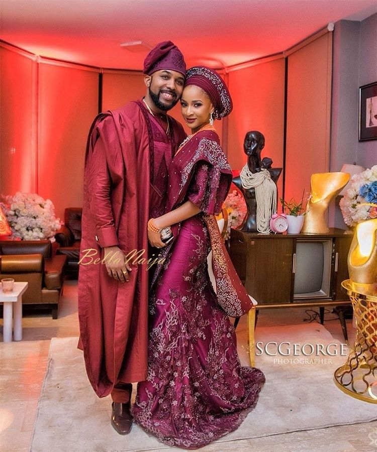 A Rare Photo Of A Heavily Pregnant Adesua Etomi And Her Husband Banky W Pops Up On The Internet #afrikanischehochzeiten