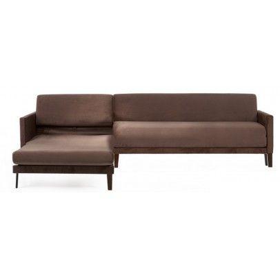 canapé lit vogue lounge marron 230 cm de large. un canapé