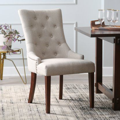 Belham Living Thomas Tufted Tweed Dining Chairs Set Of 2 Hayneedle Dining Chairs Dining Chair Set Chair Set