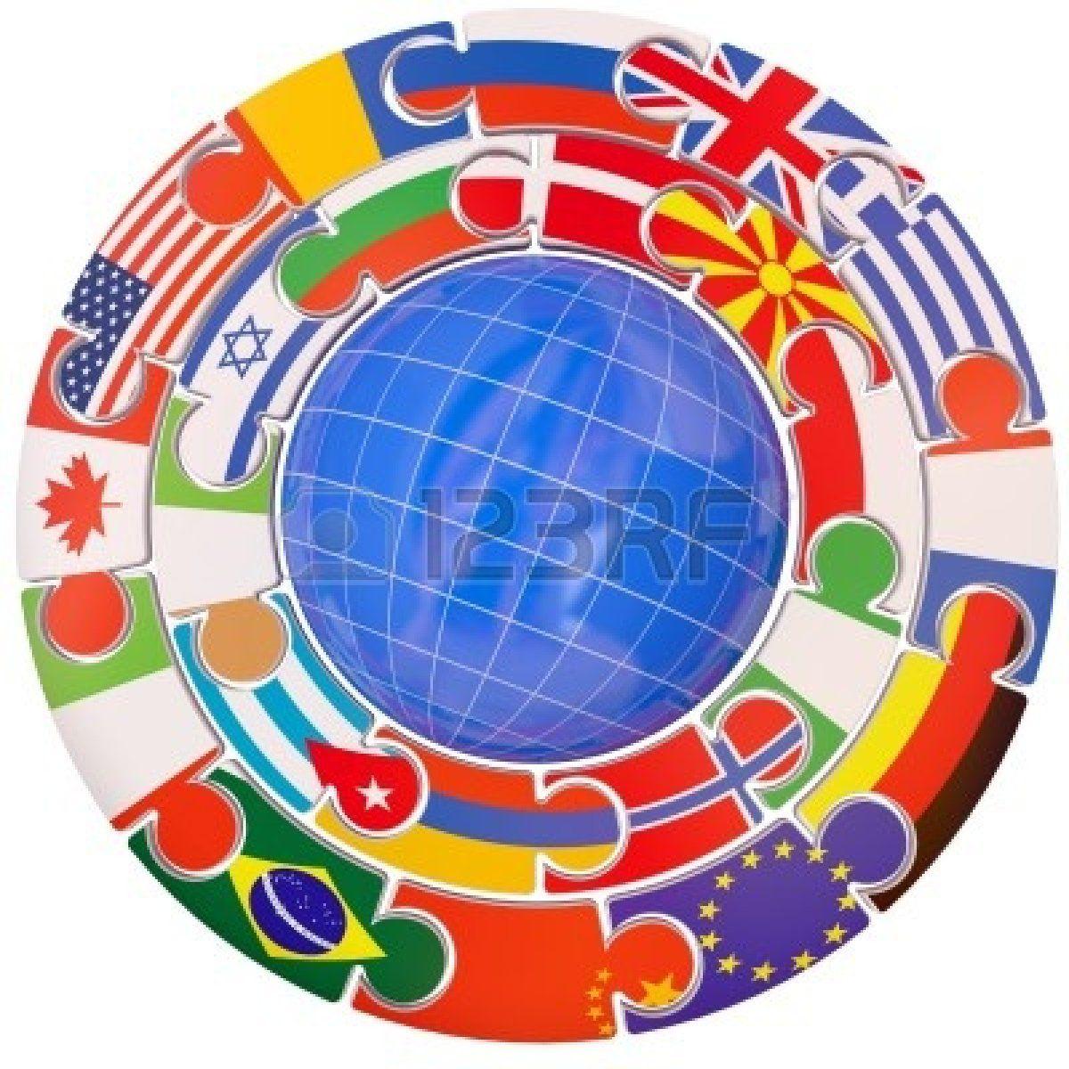 El planeta tierra y un conjunto de indicadores en un símbolo de la Commonwealth Foto de archivo