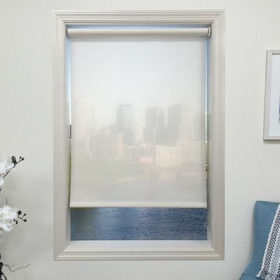"""Harbor Shades White Roller Shade Length: 72"""", Width: 60"""""""
