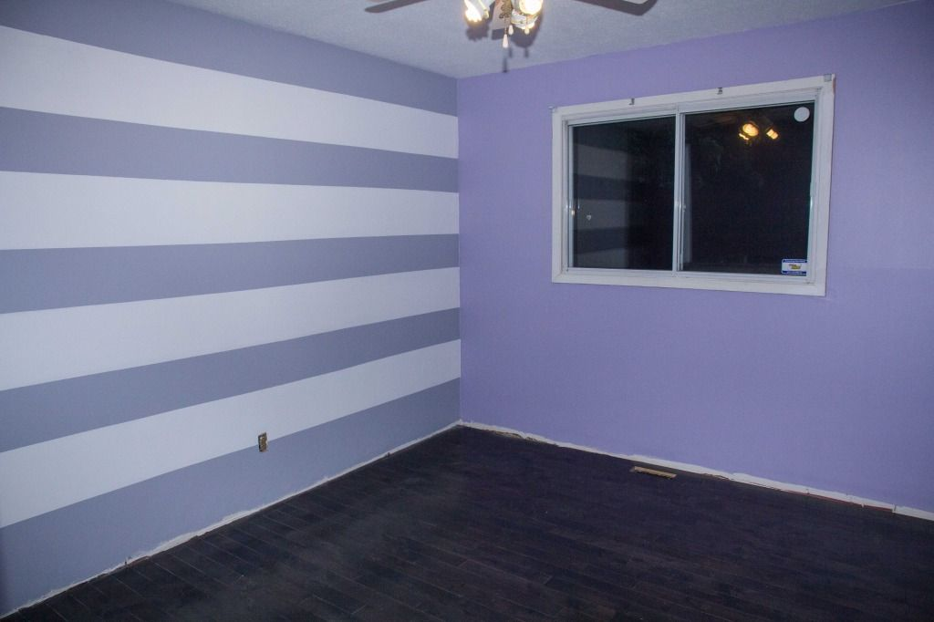 Avery S Purple And Gray Nursery Project Nursery Purple Striped