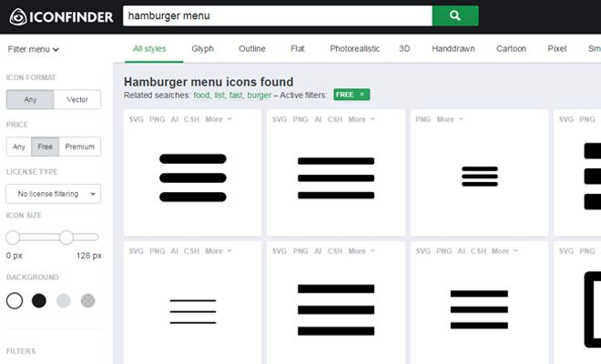 Best Practices For Sliding Hamburger Menus Web Design Ledger Hamburger Menu Hamburger Menu Icon Web Design
