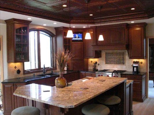 Modern Kitchen Design With Dark Cabinets And Island  Creative Brilliant Dark Kitchens Designs Design Inspiration