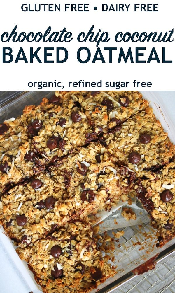 Chocolate Chip Coconut Baked Oatmeal | Gluten Free, Dairy Free – Just Jessie B