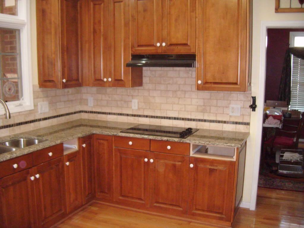 Santa Cecilia Light Granite Kitchen Granite Backsplash Noce Subway Tile Shown With Santa Cecilia