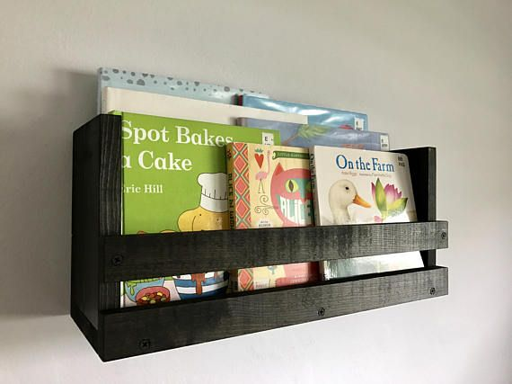 Rustic Book Shelf Wood Wall Mounted Shelf Kids Room Book Rustic Bookshelf Etsy Decor Wood Book