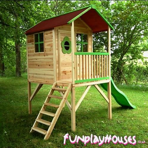 Treehouse - for future kids! Home Pinterest - Maisonnette En Bois Avec Bac A Sable
