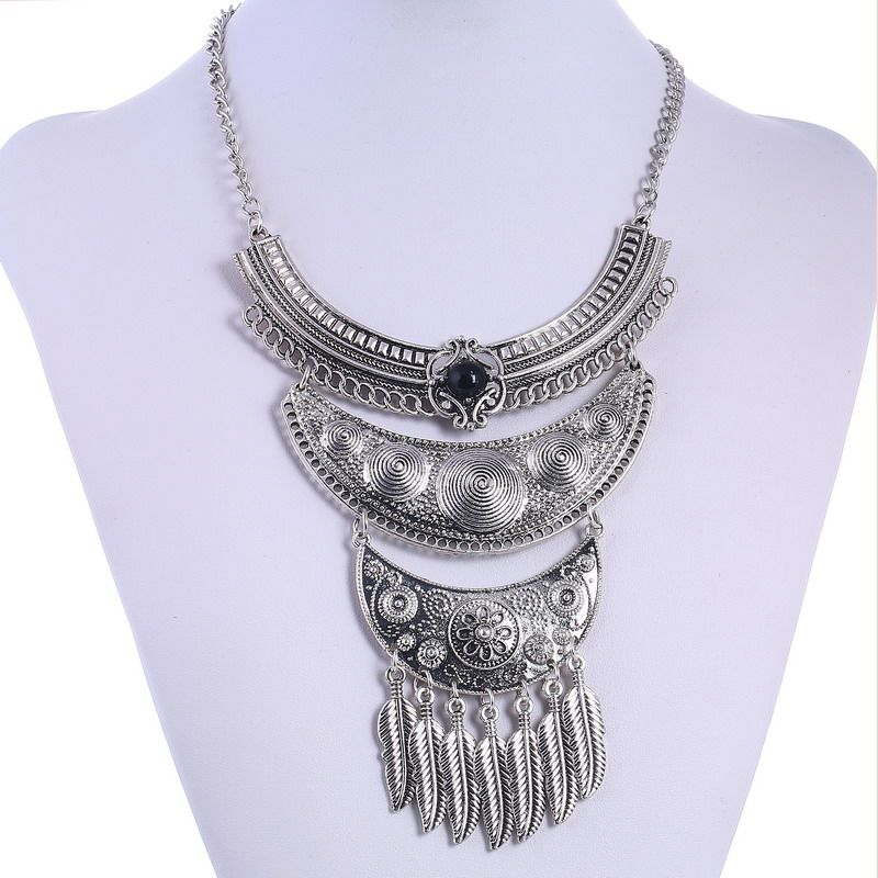 Fashion Choker Necklaces & Pendants Boho Jewelry Vintage Leaves Accessories Fine  Jewelry