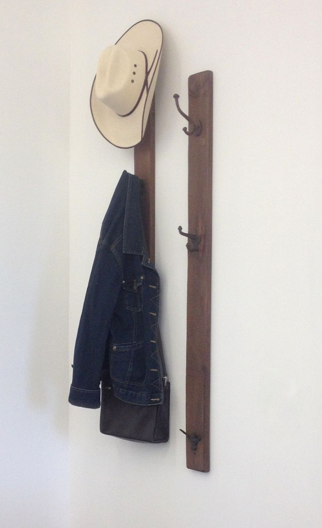 Rustic Coat Rack W/hooks Keeps Your Entry Or Mudroom Organized! Holds  Cowboy Hats, Coats And Purses.