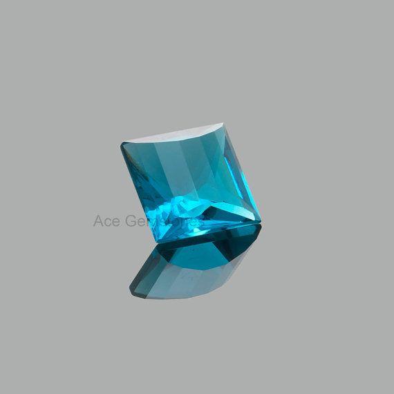 Special Hand Cut London Blue Quartz Loose Gemstone by AceGemstones