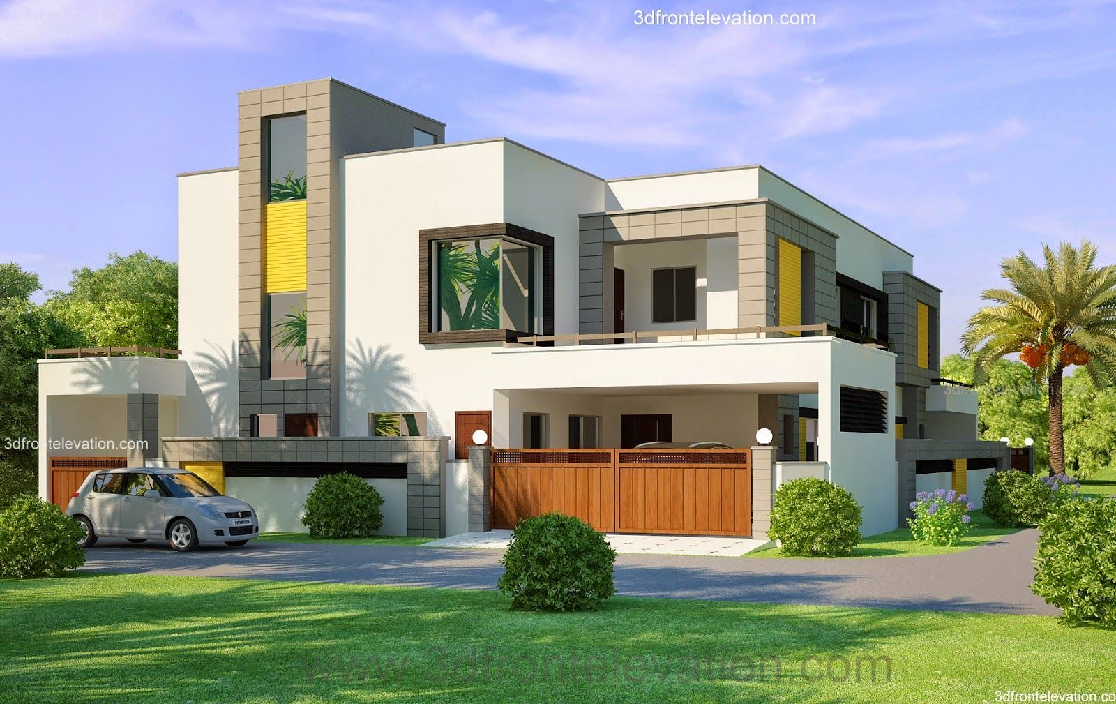 1 kanal corner plot 2 house design lahore beautiful Indian house front design photo