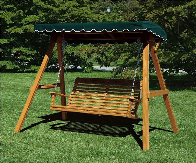 Canopy Glider Swing (Plan No. 818) - Outdoor Plans Projects and : outdoor canopy swing - memphite.com